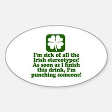 Funny St Patricks Day Party Decal