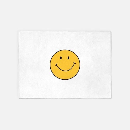MINI SMILEY FACE 5'x7'Area Rug