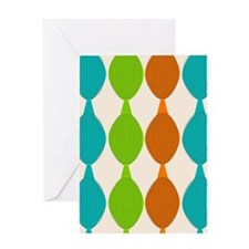 Mid-century modern ovals Greeting Cards