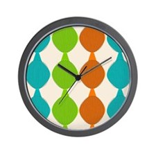 Mid-Century Modern Ovals Wall Clock
