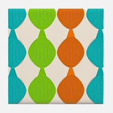 Mid-Century Modern Ovals Tile Coaster