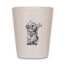 Gribble - the best little scientist Shot Glass