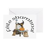 Gaelic Witch Scene Halloween Cards (10)