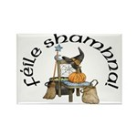 Gaelic Witch Scene Rectangle Magnets (10 pack)