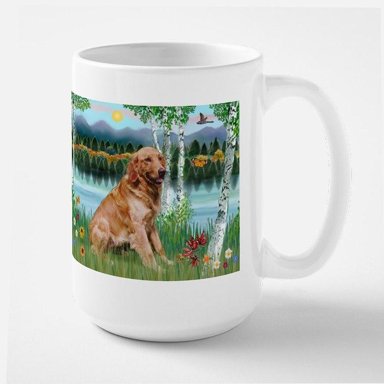 Golden in Birch Country Mug