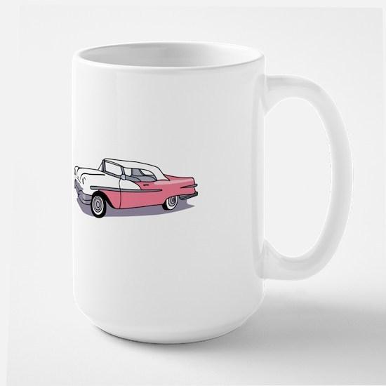 PINK CLASSIC CAR Mugs
