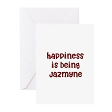 happiness is being Jazmyne Greeting Cards (Package