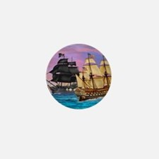 PIRATE SEA BATTLE Mini Button