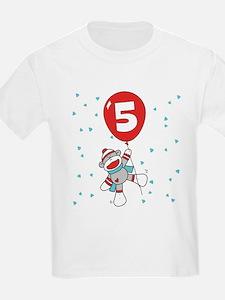 Sock Monkey 5th Birthday T-Shirt