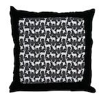 Deer on Charcoal Throw Pillow
