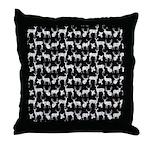 Deer on Black Throw Pillow