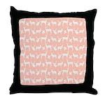 Deer on Pink Throw Pillow