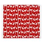 Deer on Red King Duvet