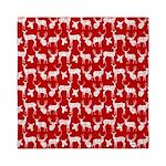 Deer on Red Queen Duvet