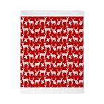 Deer on Red Twin Duvet