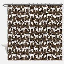 Deer on Brown Shower Curtain