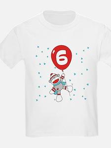 Sock Monkey 6th Birthday T-Shirt