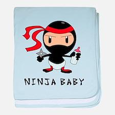 Funny Ninjas baby blanket