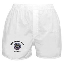 CVA-43 USS Coral Sea Boxer Shorts