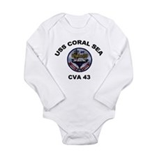 CVA-43 USS Coral Sea Long Sleeve Infant Bodysuit