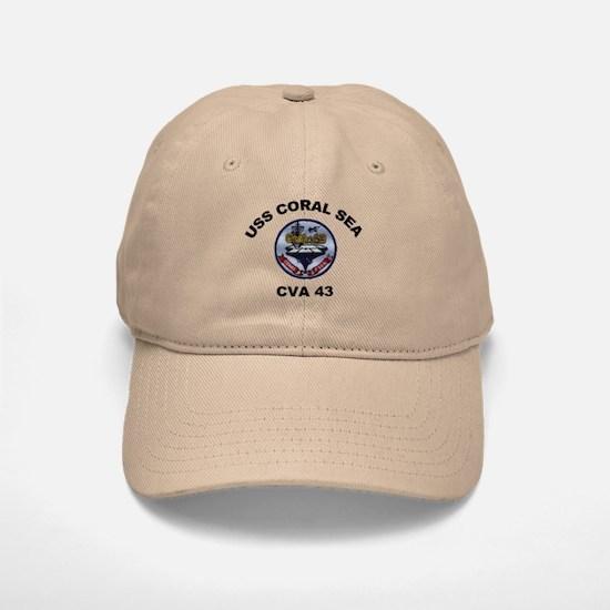 CVA-43 USS Coral Sea Baseball Baseball Cap