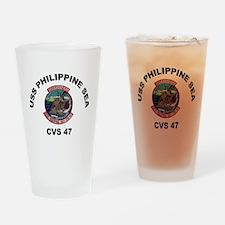 USS Philippine Sea CVS- 47 Drinking Glass