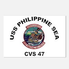 USS Philippine Sea CVS- 4 Postcards (Package of 8)
