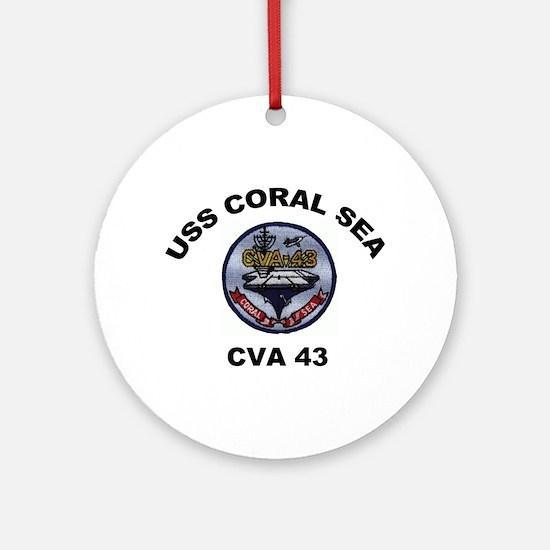 CVA-43 USS Coral Sea Ornament (Round)