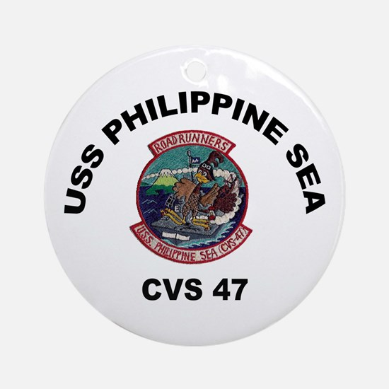 USS Philippine Sea CVS- 47 Ornament (Round)