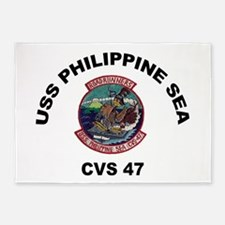 USS Philippine Sea CVS- 47 5'x7'Area Rug