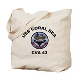 Uss coral sea cva 43 Canvas Totes