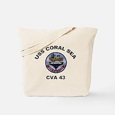 CVA-43 USS Coral Sea Tote Bag