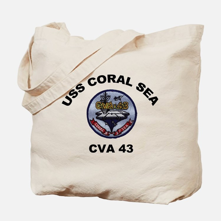 CVA-43 USS Coral Sea Tote Bag