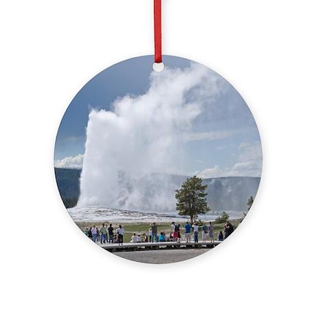 Yellowstone Faithful Ornament (Round)
