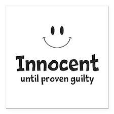 """Innocent Square Car Magnet 3"""" x 3"""""""