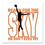 "Basketball Reach for the Square Car Magnet 3"" x 3"""