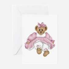 BEAR - PINK DRESS Greeting Cards (Pk of 10)