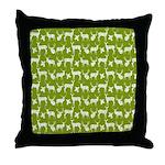 Deer on Green Throw Pillow