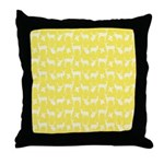 Deer on Yellow Throw Pillow