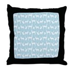 Deer on Light Blue Throw Pillow