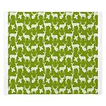 Deer on Green King Duvet