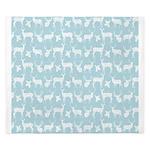Deer on Light Blue King Duvet
