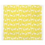 Deer on Yellow King Duvet