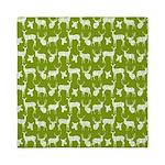 Deer on Green Queen Duvet