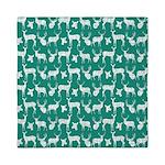 Deer on Teal Queen Duvet