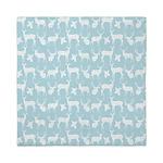 Deer on Light Blue Queen Duvet