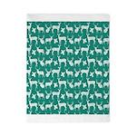 Deer on Teal Twin Duvet