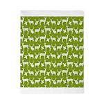 Deer on Green Twin Duvet