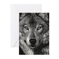 Wolf Sketch Greeting Cards (Pk of 20)