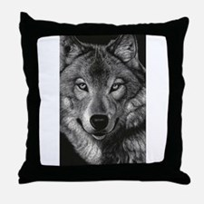 Wolf Sketch Throw Pillow